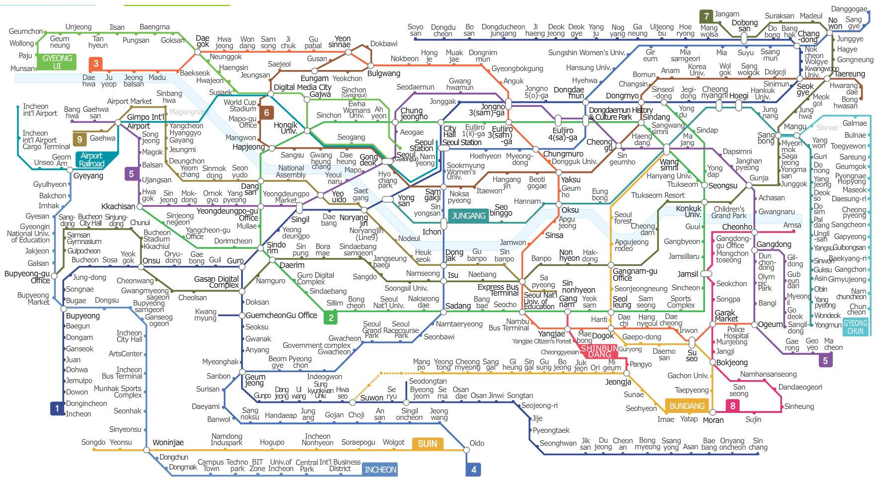 Eoul Subway Map.Seoul Subway Map Seoul Korea Tour